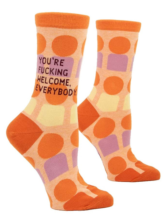 Blue Q - You're F*cking Welcome Crew Socks