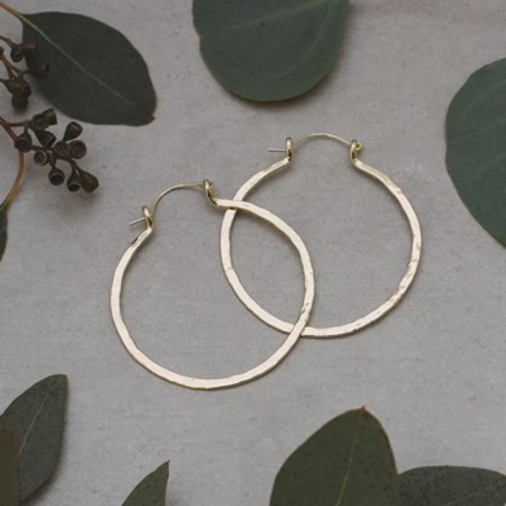 Glee Gold Plated Primitive Hoops