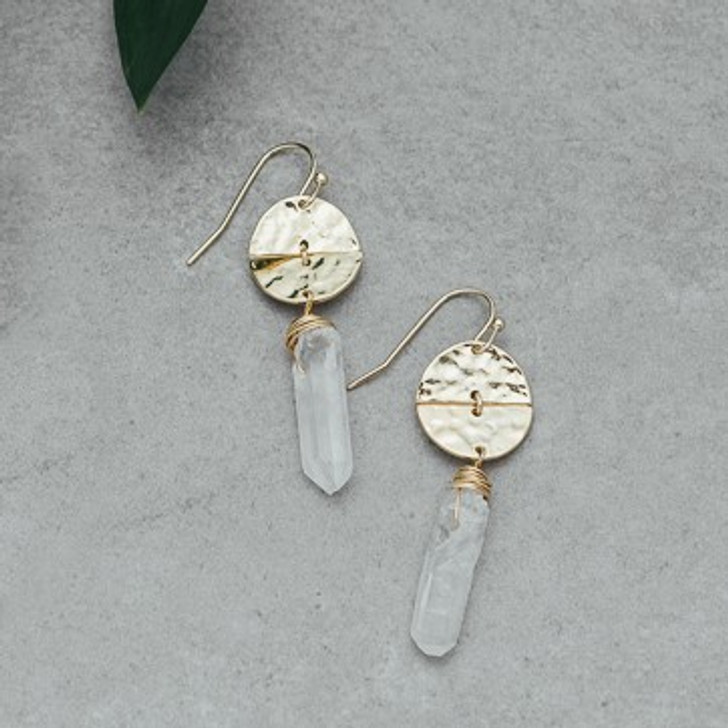 Glee Gold Plated Abstract Earrings