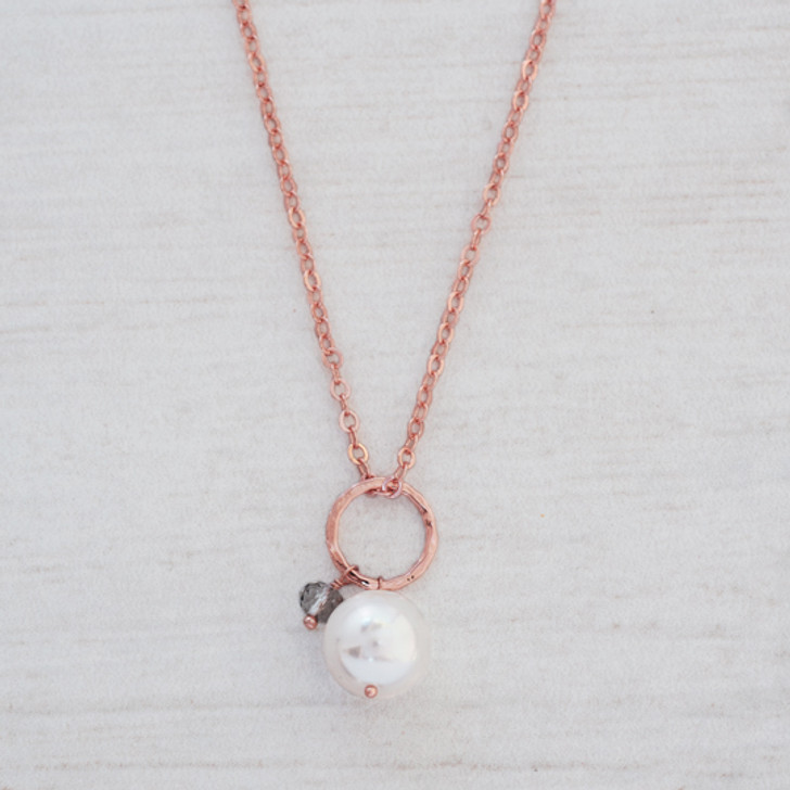 Glee Rose Gold Plated Betty Pearl Necklace