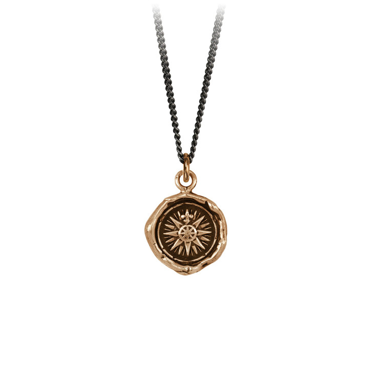 "Pyrrha- Direction Talisman Necklace Bronze 18"""