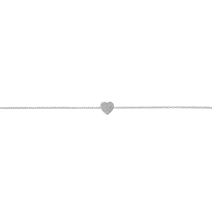 Tashi Silver New Cubic Zirconia Pave Heart Bracelet