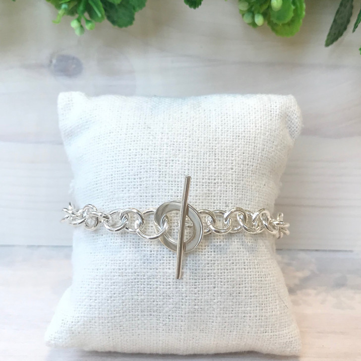 Bamiyan Silver Toggle Bracelet