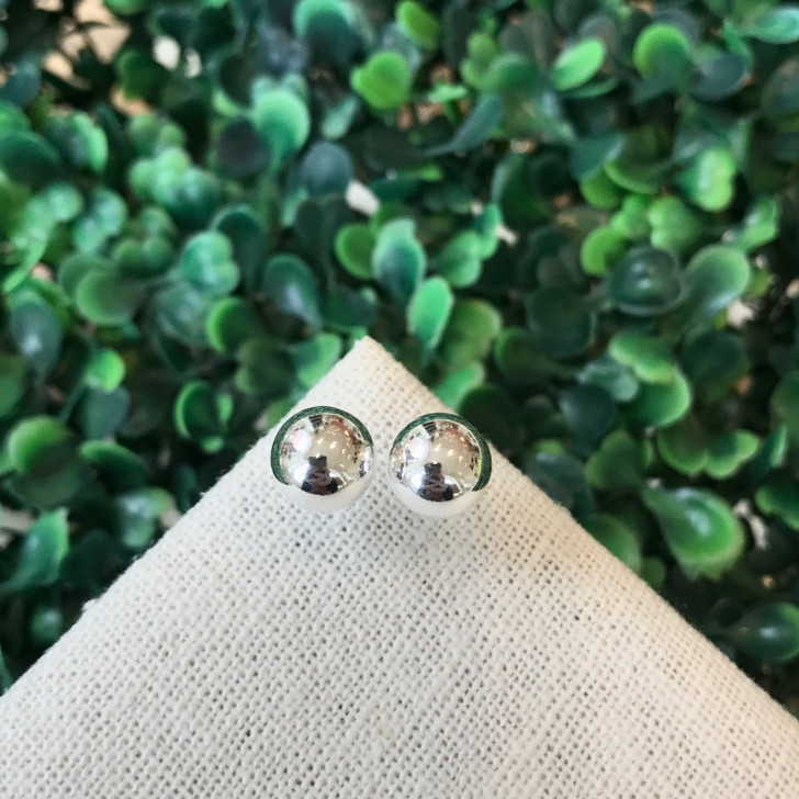 Bamiyan Silver 10mm Ball Studs