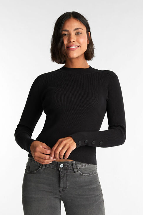 Esprit Organic Turtle Neck Sweater Black