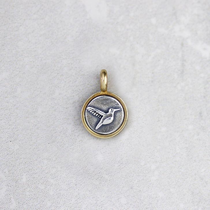 Marmalade Tiny Silver and Bronze Humming Bird Pendant