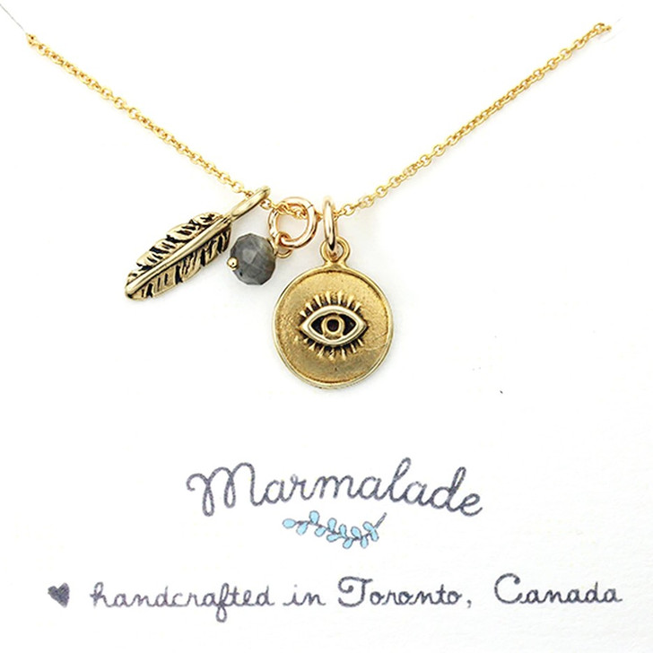Marmalade Gold Filled Evil Eye Charm Necklace