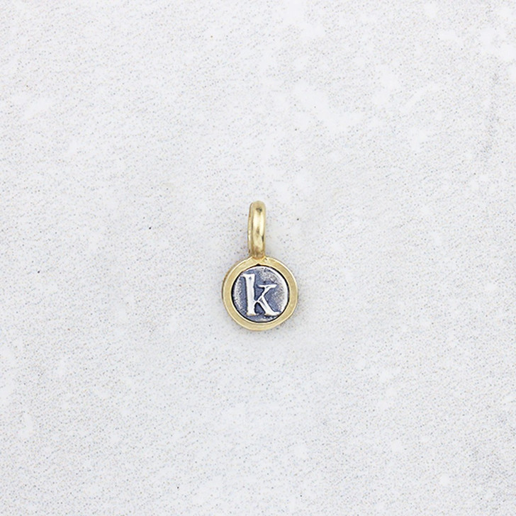 Marmalade Teeny Silver and Bronze Initial Pendant