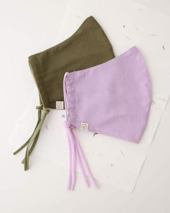 Lover's Tempo Cotton Olive/Lilac Mask 2 Pack