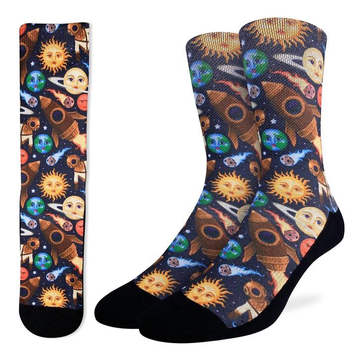 Good Luck Sock Men's Stars and Steampunk Socks