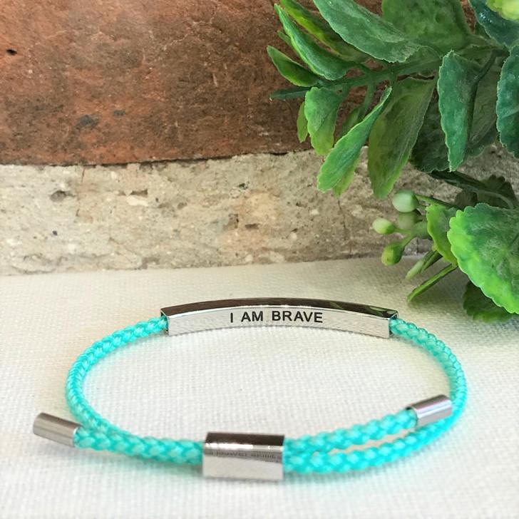 GHG Our Girls Bracelet I Am Brave Turquoise
