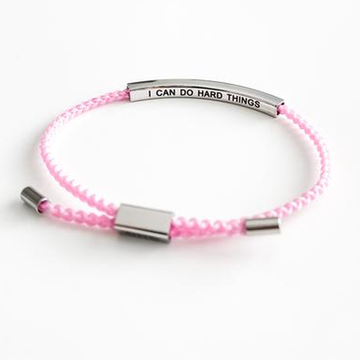 GHG Our Girls Bracelet I Can Do Hard Things Pink