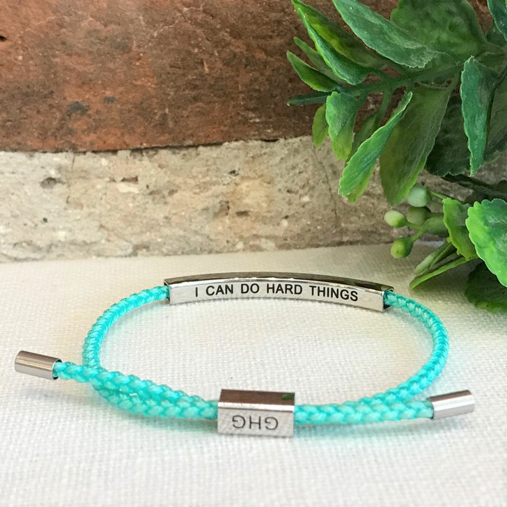 GHG Our Girls Bracelet I Can Do Hard Things Turquoise
