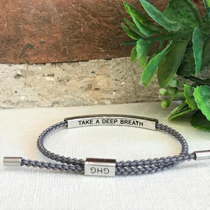 GHG Our Girls Bracelet Take A Deep Breath Grey