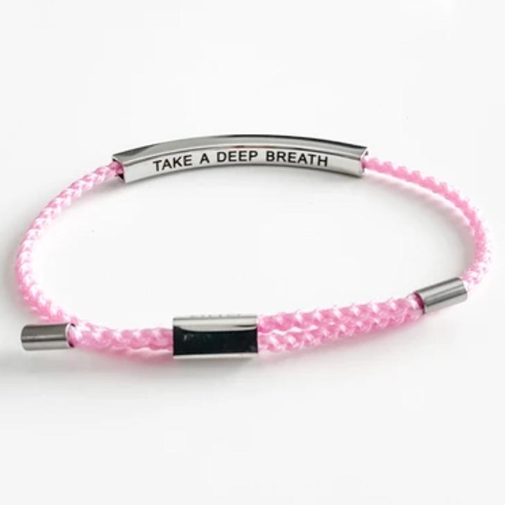 GHG Our Girls Bracelet Take A Deep Breath Pink