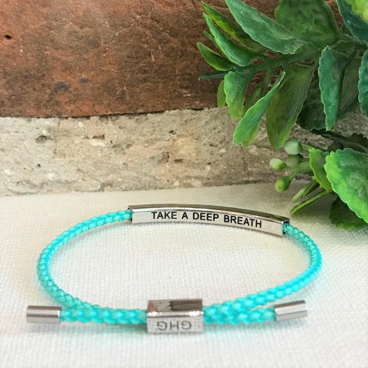 GHG Our Girls Bracelet Take A Deep Breath Turquoise