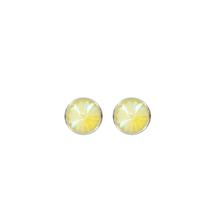 Myka Large Rivoli Post Earrings Sunshine Delight