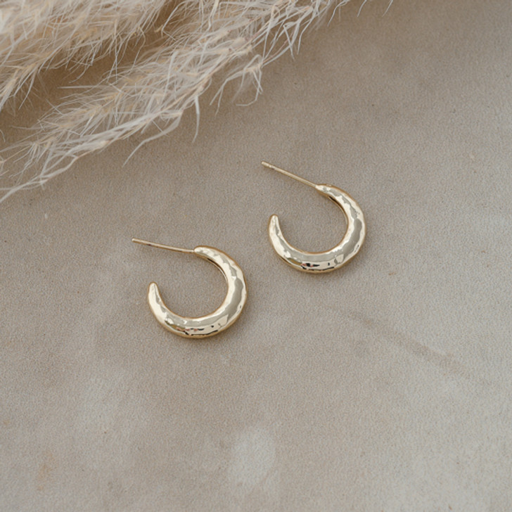 Glee Gold Plated Riley Hoops