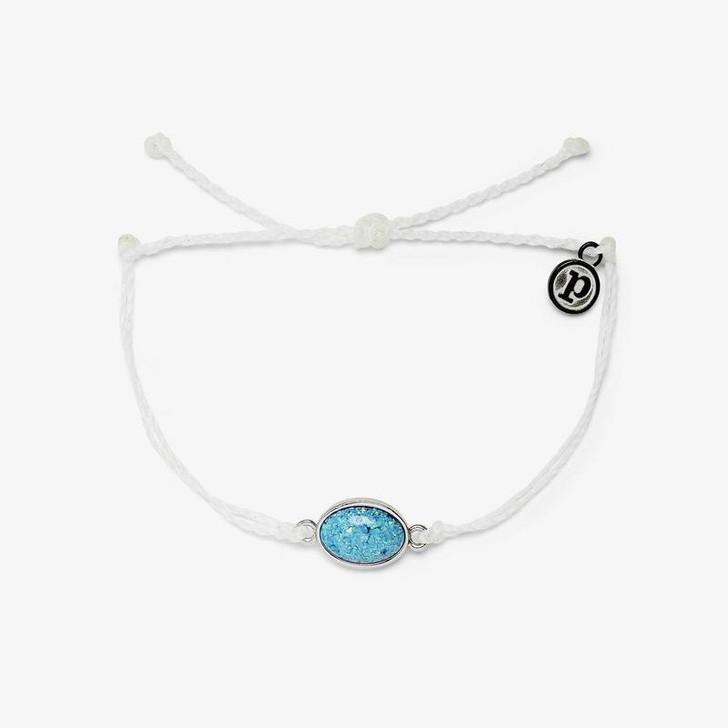 Pura Vida Opal Charm Silver Bracelet White