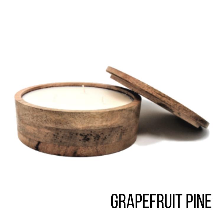 Himalayan Mountain Barrel 17oz Candle Grapefruit Pine