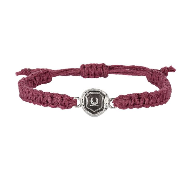 Pyrrha - New Beginnings Burgundy Braided Bracelet