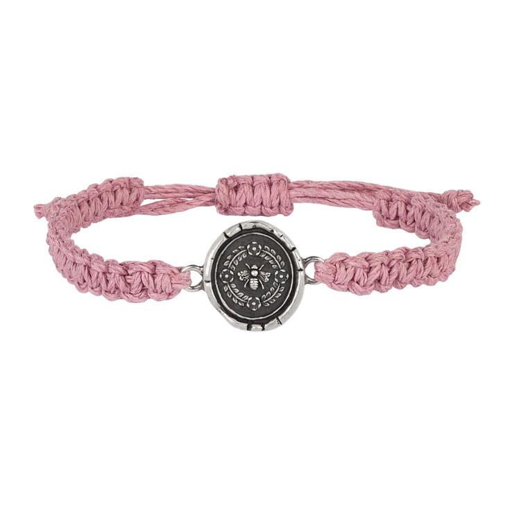 Pyrrha- Honeybee Rose Braided Bracelet