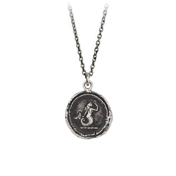 "Pyrrha- Mermaid Talisman Necklace 20"""