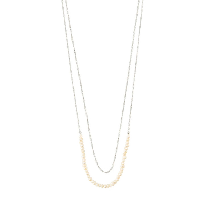 Pilgrim Silver Plated Beauty Dainty Pearl Necklace
