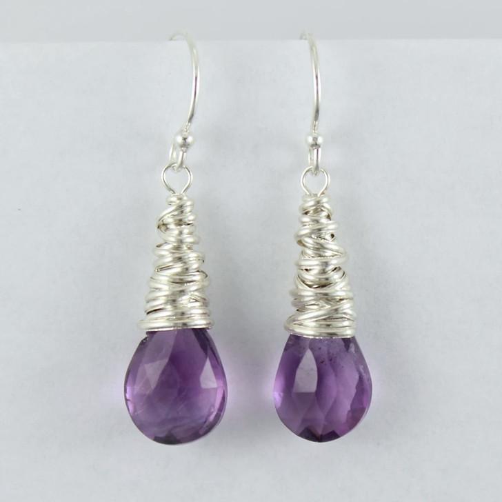 Dianne Rodger Silver Iolite Petal Earring