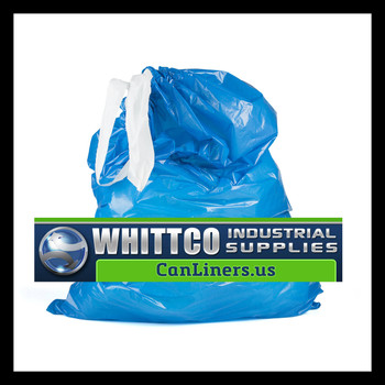 DTH3040B Draw-Tuff Institutional Draw Tape Can Liners Inteplast Bags Blue (DTH3040B)