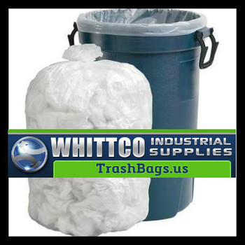 S303708N HDPE lnstitutional Trash Can Liners Inteplast Bags Natural