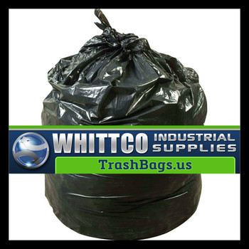 S303713K HDPE lnstitutional Trash Can Liners Inteplast Bags Black