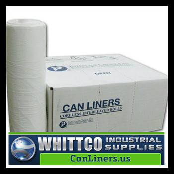 S404818W HDPE lnstitutional Trash Can Liners Inteplast Bags White