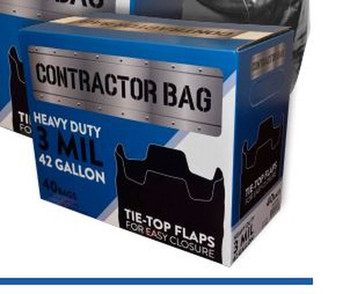 Contractor bags 3 mil black 40 count (CB4230XK)  42 gallon