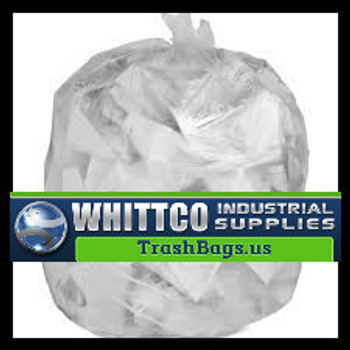 60 gallon Trash Bags Clear 100 bags  1.0 mil  L38581CR
