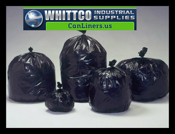 L385813KR trash bags clear and black can liners WHITTCO Industrial supplies