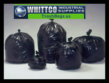 45 gallon Trash Bags 14 micron 250 bags H404814B BLACK