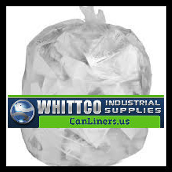 H404812N trash bags clear and black can liners WHITTCO Industrial supplies