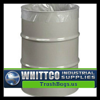 "HUSKY TRASH BAGS  CLEAR 28 X 60"" 55 GAL DRUM LINERS (HWY6-55)"