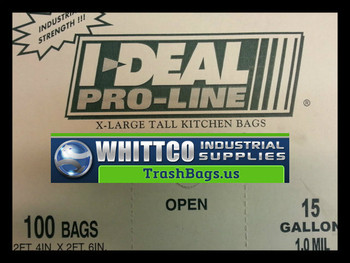 15 Gallon White Drawstring Trash bags heavy duty 1.0 mil