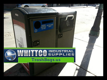 Recycling Bags Clear with Black Print - Fits Compactors