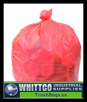 PC24MRR  RED Trash Bags 24x24 0.45 Mil