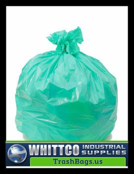 PCSJXHGN Trash Bags 28x45 0.7 Mil GREEN