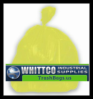 BRS384616Y YELLOW HDPE Healthcare Trash Bags Inteplast Bags