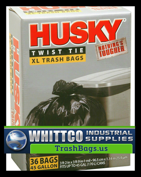 Husky 45-Gallon Trash Bags HK45036B 36 Count HK45036B