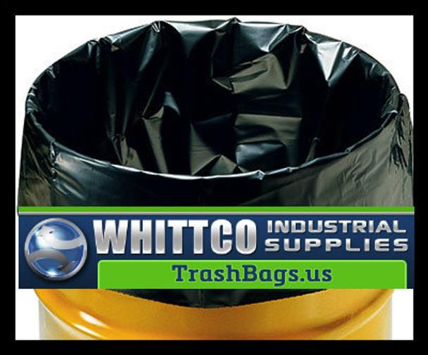 Municipal Trash Bags  ( 1.7 mil Black 200 bags ) 16x14x36