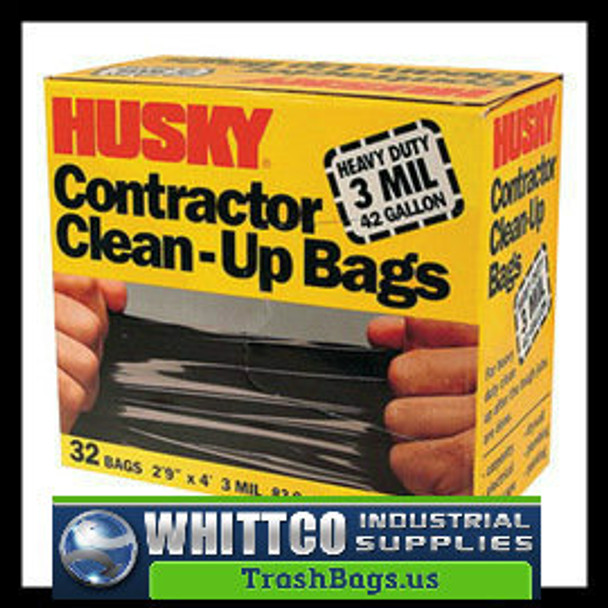 Husky Contractor bags 42 Gal 3MIL 32 bags HK42WC032B