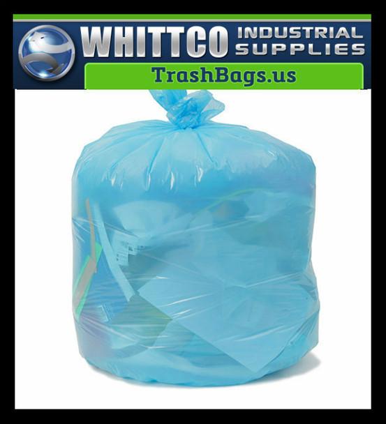PCSJXHBU Trash Bags 28x45 0.7 Mil BLUE