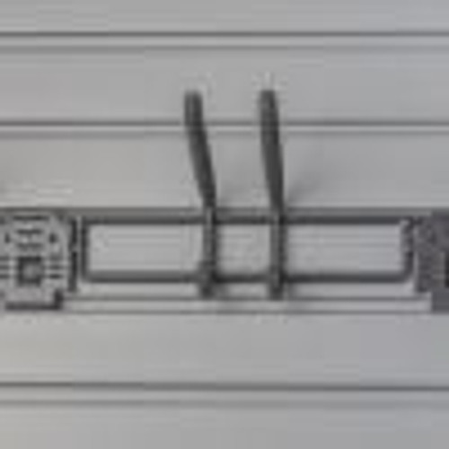24″ Long Tool Bar w/ lock  NEW Locking Clip for added stability.  Fits all 3″ slatwall products.  Handiwall P/N: HSH03SBWL