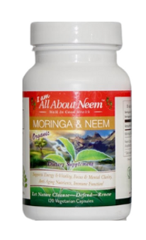 Moringa and Neem Leaf Capsules - 120 Count  Fresh Organic